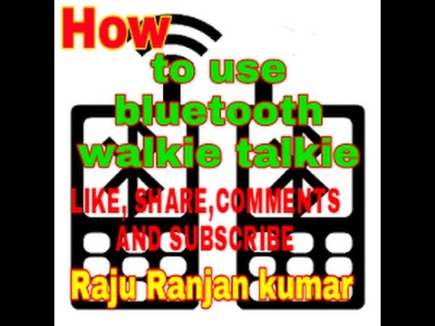 How to use bluetooth walkie talkie?