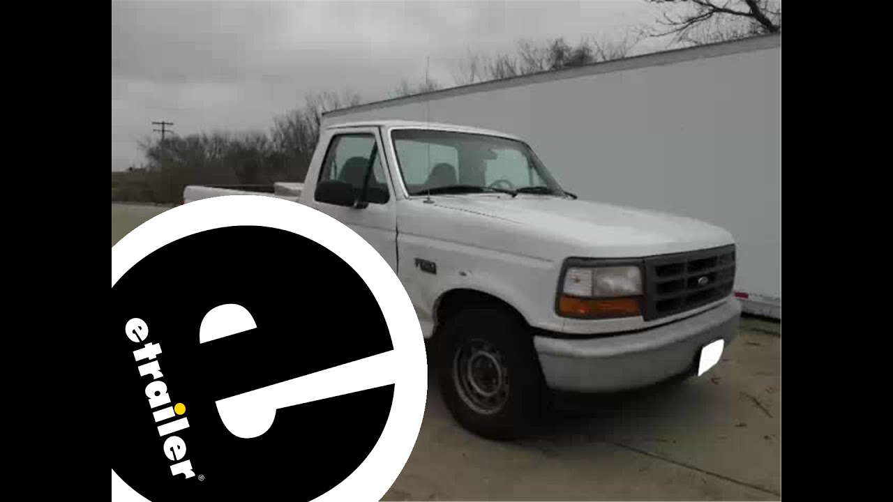 Installation of a trailer hitch on a 1996 ford f 150 etrailer com youtube