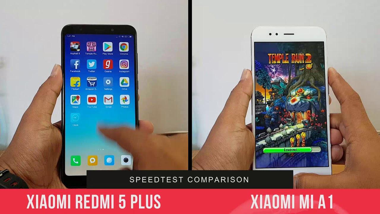 Xiaomi Redmi 5 Plus Vs Xiaomi Mi A1 Speedtest Miui 9 2 Vs