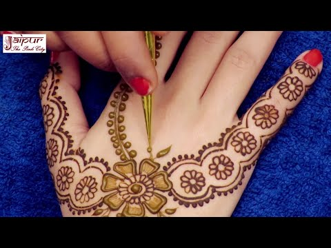 Awesome Mehndi Design for Hands | New Arabic Henna Mehndi Design for Hands #177 @ jaipurthepinkcity