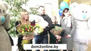 Выписка из роддома Юлии Щаулиной с сыном Лёши Самсонова