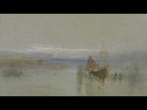 【 BEST WATERCOLOR 】Fishing Boats Becalmed Off Le Havre - Joseph Mallord William Turner