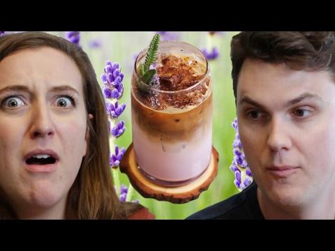People Try Flower Coffee