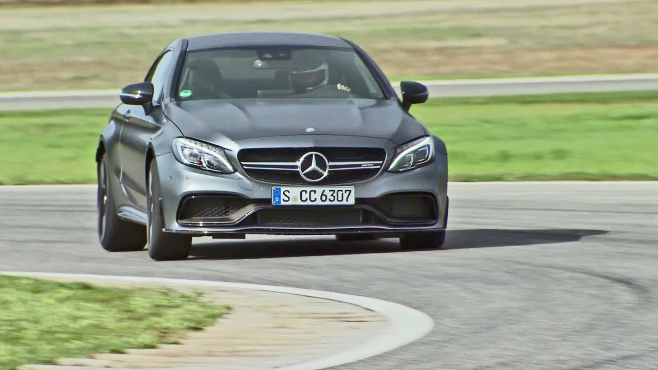 Mercedes Amg C63 S Coupe 2016 Test On Racetrack