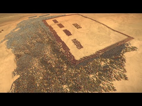 3000 ROMANS vs 12500 EGYPTIANS - ROME 2: Total War [4K Gameplay]