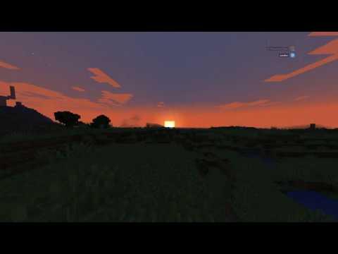 A Minecraft sunrise with the Skyrim OST #1