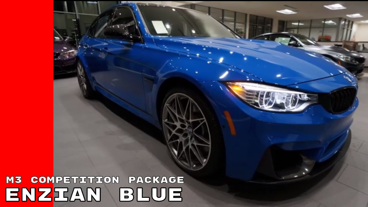 enzian blue individual 2017 bmw m3 competition package youtube. Black Bedroom Furniture Sets. Home Design Ideas