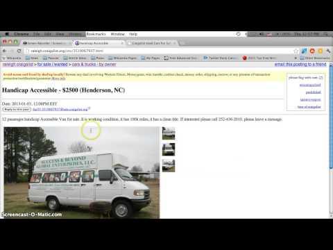 Craigslist Handicap Vans For Sale By Owner In North Carolina