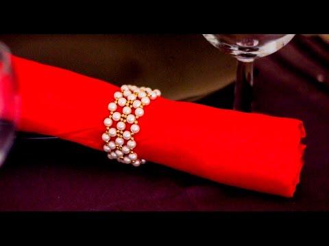 How to make pearl napkin ring  | DIY napkin ring | Beads art