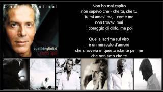 CLAUDIO BAGLIONI - Una lacrima sul viso