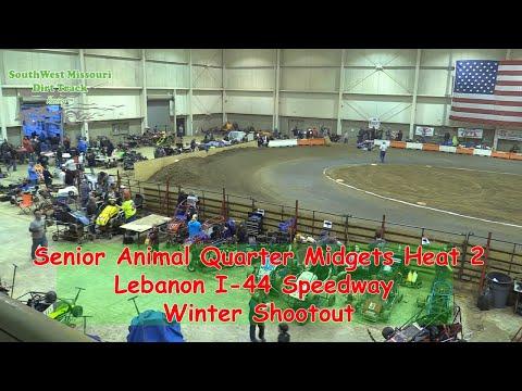 Senior Animal Quarter Midgets Heat 2  I 44 Speedway Winter Shootout 1 20 2018