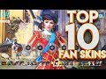 TOP 10 OVERWATCH FAN SKINS!