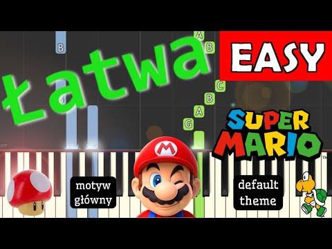 🎹 Super Mario Bros (cz. 1, Motyw główny, default theme) - Piano Tutorial (łatwa wersja) (EASY) 🎹