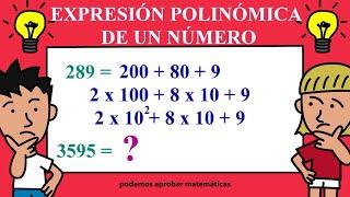 Expresión polinómica de un número explicado paso a paso