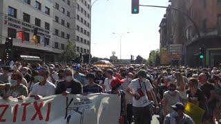 """Manifestación contra el cierre de Siemens-Gamesa en Aoiz y para pedir la """"implicación"""" del Gobi"""