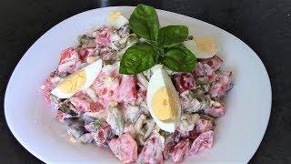 Салат из баклажанов Вкуснотища - минимум ингредиентов, легко готовится, съедается быстро!