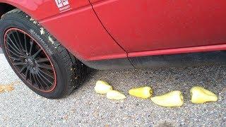 Crushing Crunchy & Soft Things by Car - Satisfying videos Pepper VS CAR TIRE