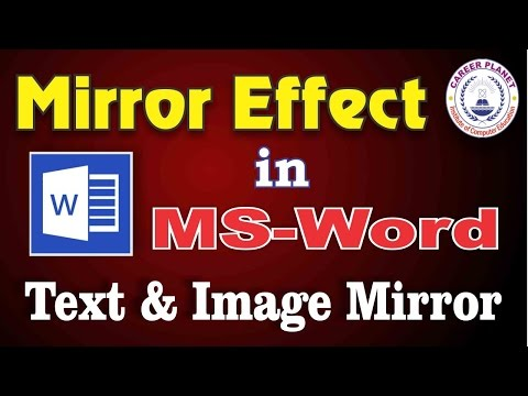 Mirror Effect using MS Word in Hindi|Text Mirror Effect or Image Effect in Word|RSCIT Course