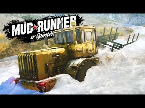 The UNSTOPPABLE K-700 HEAVY TRACTOR! DEEP WATER MUDDING! - Spintires: MudRunner Gameplay