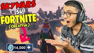 CHI ARRIVA ULTIMO nelle SKYWARS su FORTNITE SHOPPA 14.000 V-BUCKS! 😱😱