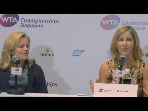 Chris Evert & Eugenie Bouchard on WTA Singapore
