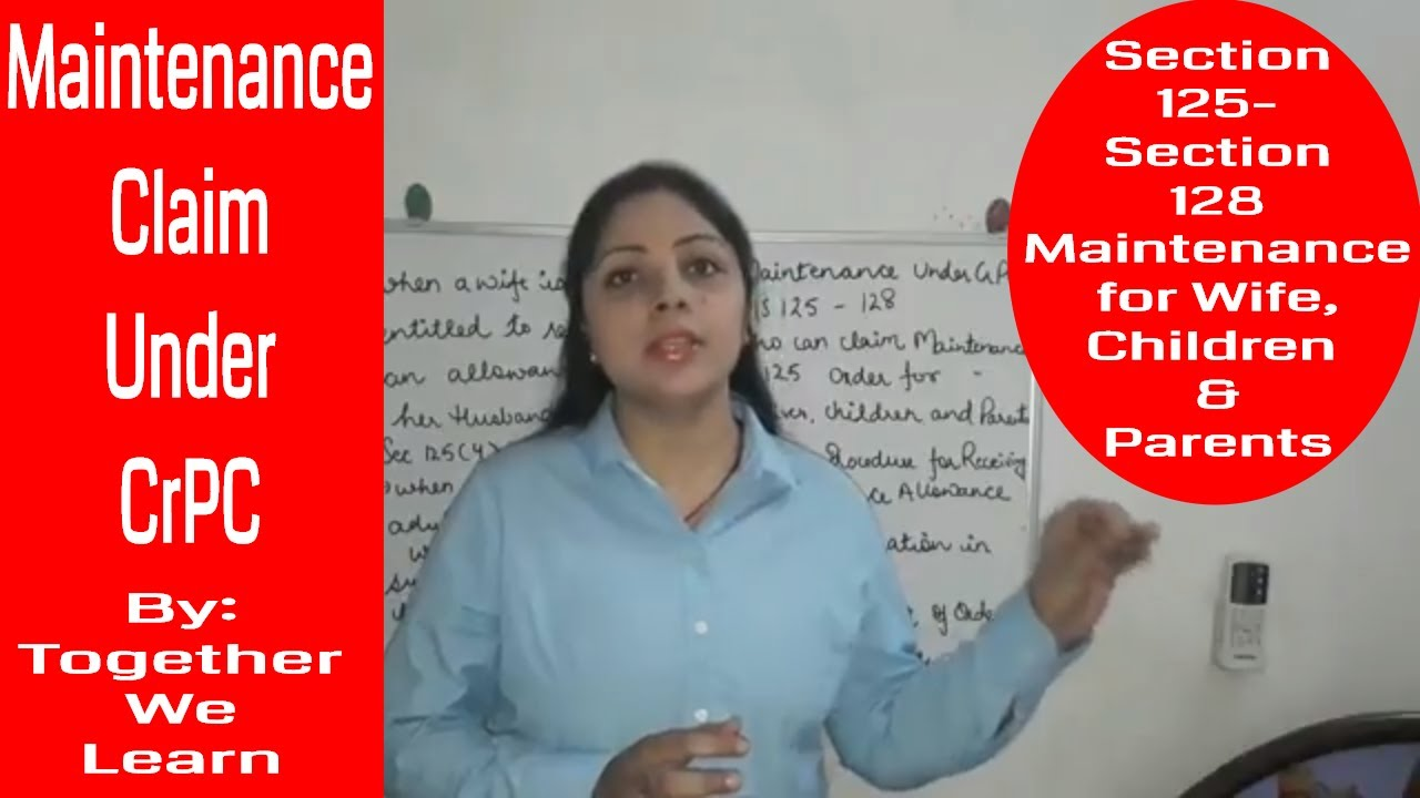 Maintenance Law in India || Under CrPC || for Wives