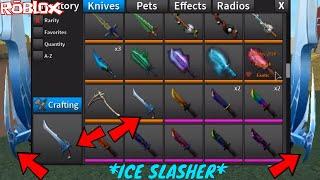 * ¡NUEVO * ICE SLASHER COMPETITIVE KNIFE! *1000 PUNTOS COMPETITIVOS REQUERIDOS* (ROBLOX ASSASSIN NUEVO)