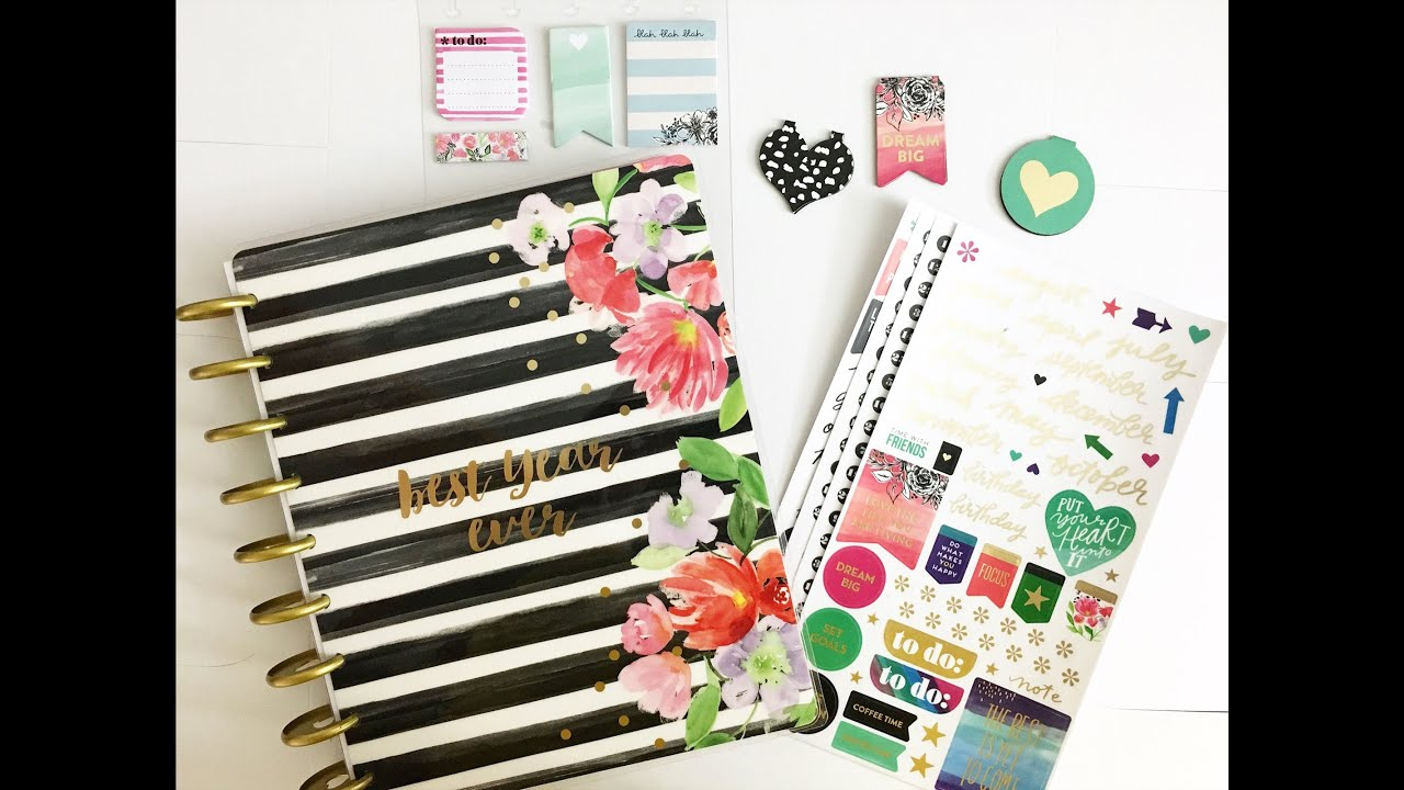 the happy planner best year ever 12 month planner unboxing youtube