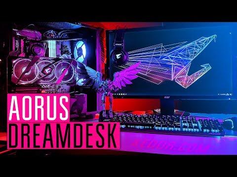 ИГРОВОЕ МЕСТО МЕЧТЫ ОТ AORUS DREAMDESK - Сборка ПК на всех комплектующих от Aorus.