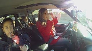 Distracted driving quadruples with kids