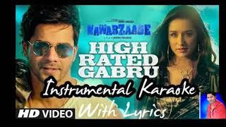 High rated gabru intrumental karaoke new guru randhawa