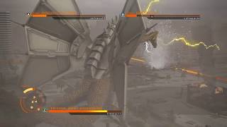 "GODZILLA PS4 versus mode: MechaKingGhidorah vs Godzilla90's (Rings) vs.Godzilla 2014 ""How Did You?"""