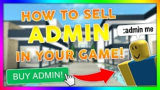 How to SELL ADMIN in your Roblox Game! (FREE Roblox Studio Tutorial)