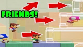 Super Mario Maker 2 Multiplayer Co-Op with Friends