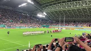 イングランド対アメリカ戦ラグビーワールドカップ国歌斉唱