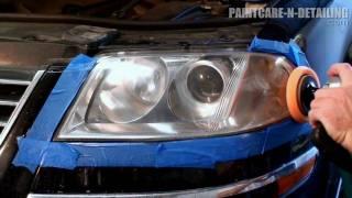 Headlight Restoration - Wetsanding and Polishing HD
