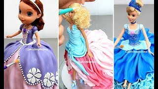 Amazing Princess DOLL CAKES Compilation | Disney Cinderella Snow White Sofia