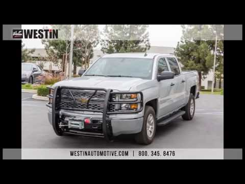 Installation of Westin HDX Winch Mount Grille Guard on 2014 Chevy Silverado 1500 - YouTube
