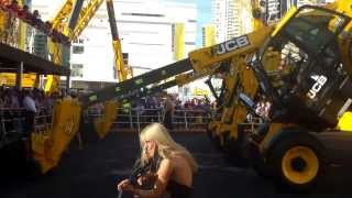 Video still for A look at JCB's the Dancing Diggers at ConExpo 2014
