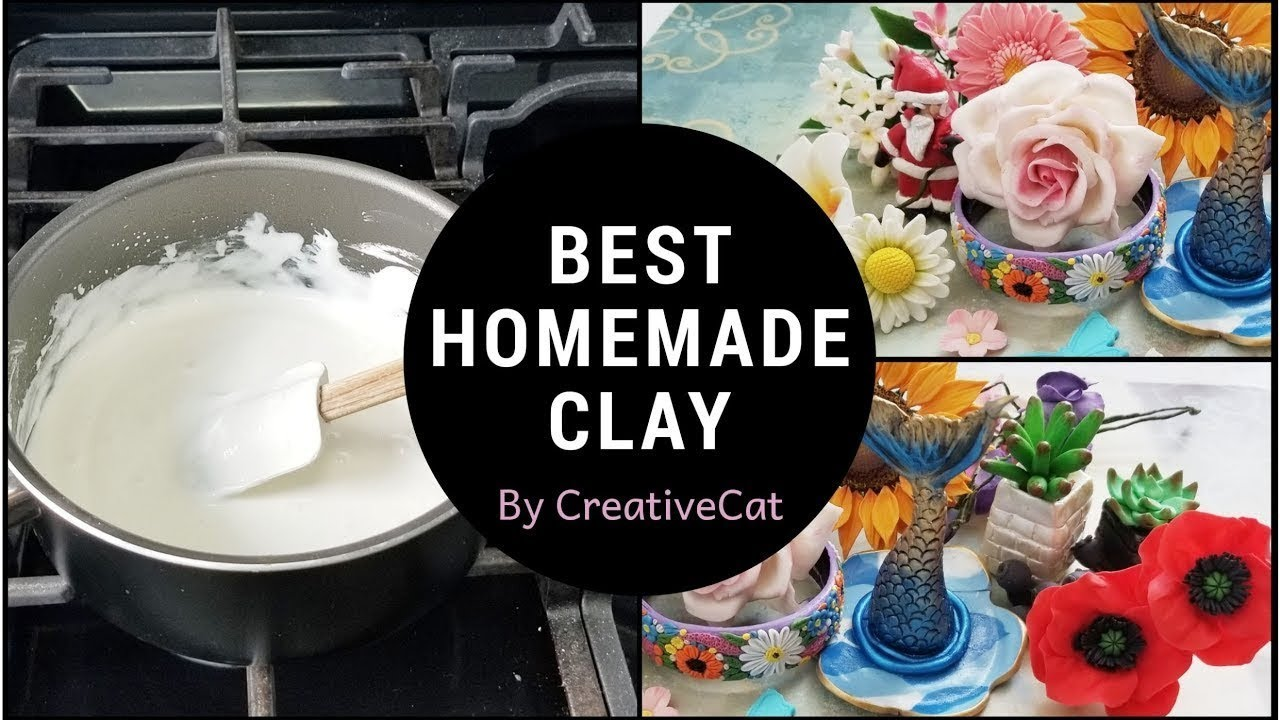 Best Homemade Airdry Clay and Tips to keep in mind / Cold Porcelain Clay On  Gas Stove/lamasa clay
