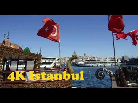 Walk Around Istanbul 4K. Sultanahmet - Laleli - Suleymaniye - Beyoglu - Taksim - Dolmabahce.