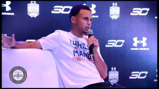 steph curry chooses ray allen over reggie miller in a last second scenario at ua roadshow