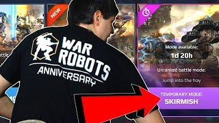 War Robots Anniversary: SKIRMISH New Crazy Gamemode Gameplay - WR