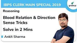 Blood Relation & Direction Sense for IBPS Clerk Main Special 2019