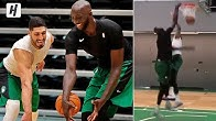 Tacko Fall Goes 1-on-1 with Enes Kanter! Showing His DOMINANCE! 1st Celtics Practice!