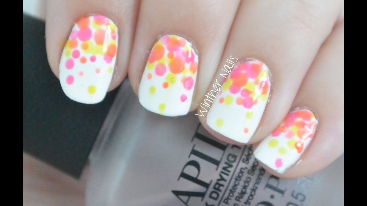 Bright Neon Color Nail Art Tutorial