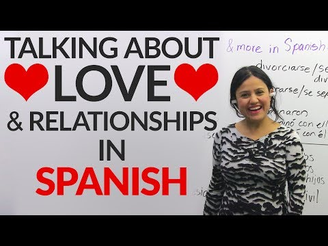 Learn LOVE & relationship vocabulary in SPANISH