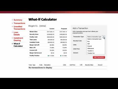 How to manage your NAB Equity Lending Facility online