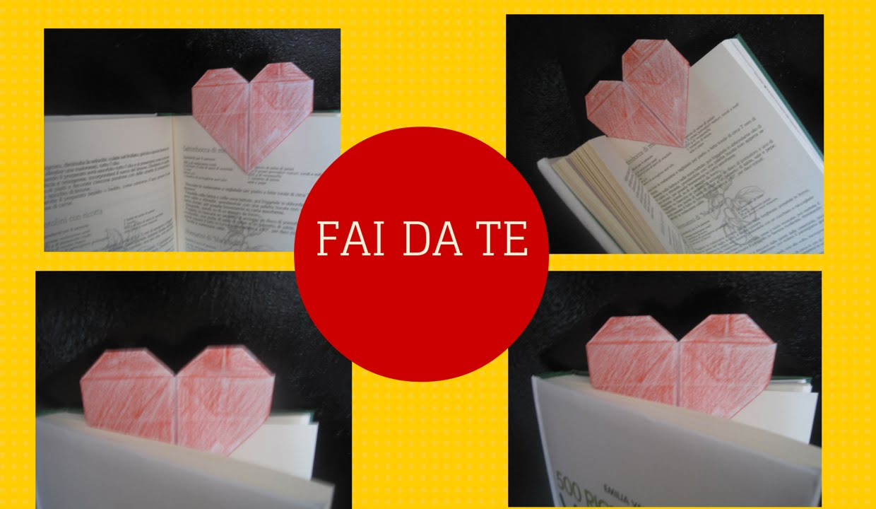 Top How to make a bookmark to heart /Come fare un segnalibro a cuore  BD12