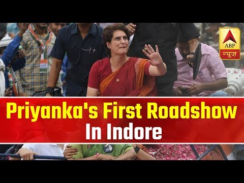 Priyanka Gandhi's First Roadshow In Indore | ABP News
